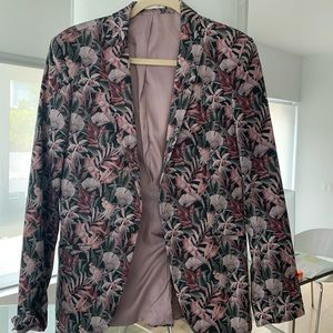 TOPMAN floral print blazer